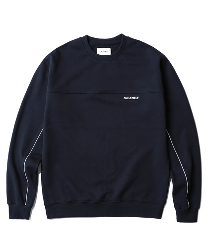 Reflective Piped Sweatshirt (Navy)