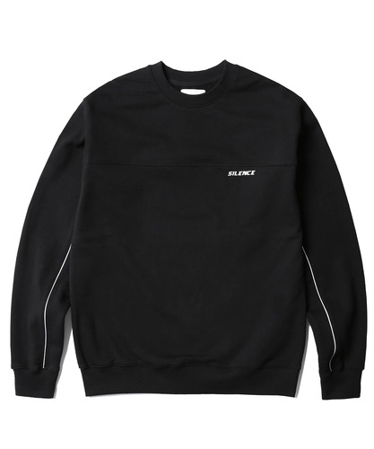 Reflective Piped Sweatshirt (Black)