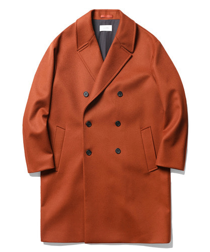 17FW Double Oversize Cashmere Coat (Brick Red)