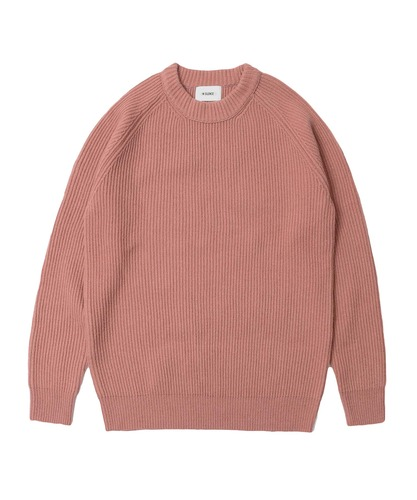 Lambswool Crew Neck Knit Pink