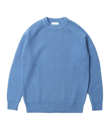 Lambswool Crew Neck Knit Blue